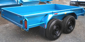 Dual Axle Tandem Trailer with checkered plate sides and floor - Ebsary Towbars & Trailers Bendigo